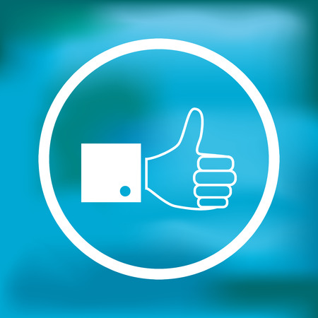 thumb up icon: Paper thumb up icon, illustration