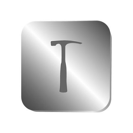 steel button: Hummer icon on a steel button, vector illustration Illustration