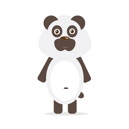 Cute panda. Vector illustration for childrens books, posters, postcards and other design
