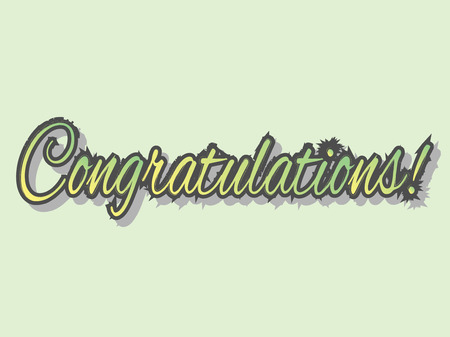 laud: congratulations banner, vector illustration