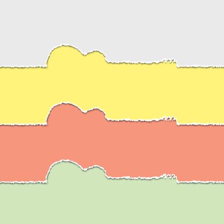 mediator: Guitars silhouette of torn paper, vector illustration Illustration