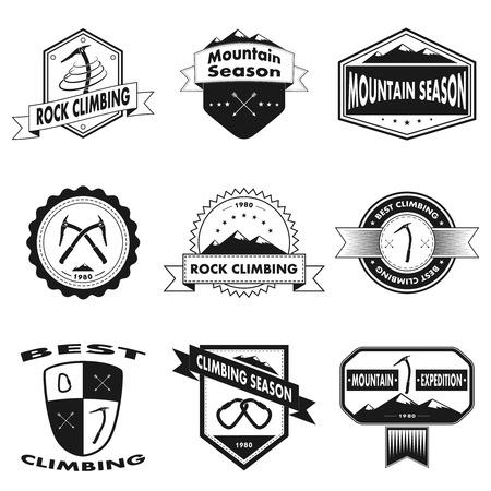 Set of mountain and climbing logos,vector illustration