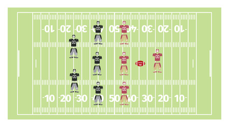gridiron: American football play-field and uniform, vector illustration