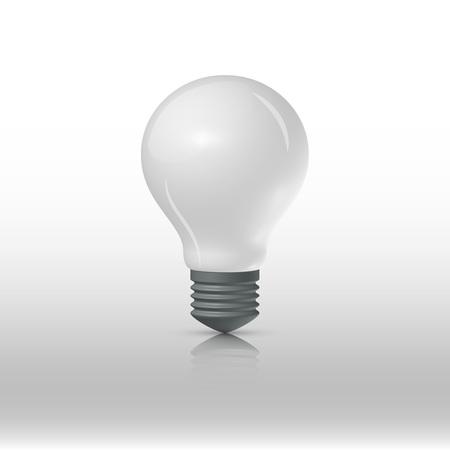 matt: Matt lightbulb on a white background, vector illustration