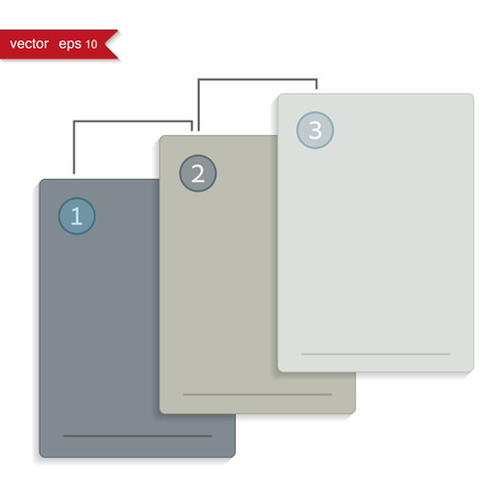 decorate notebook: Set of three business board, vector illustration