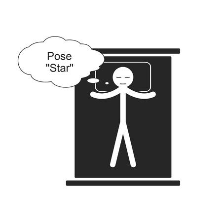 Pose Star for sleep Illustration