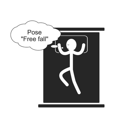 Pose Free fall for sleep 일러스트