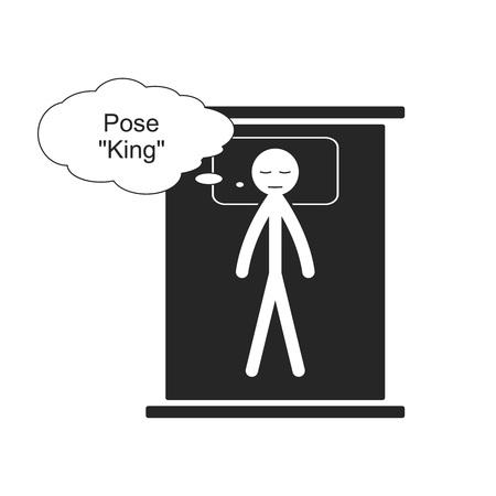 Pose King for sleep Illustration