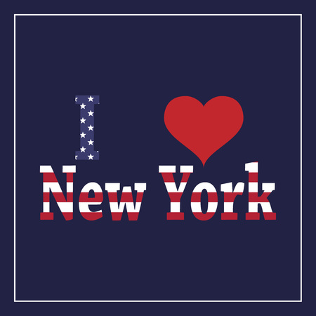 I love New York banner, vector illustration Ilustracja