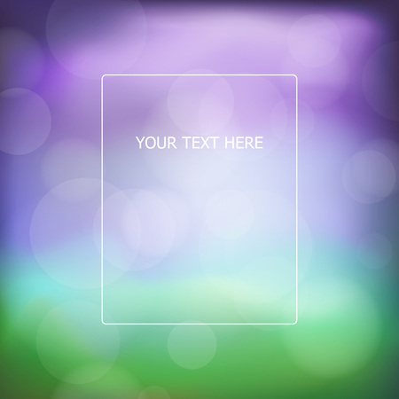 Bokeh abstract background with blur effects, vector illustration