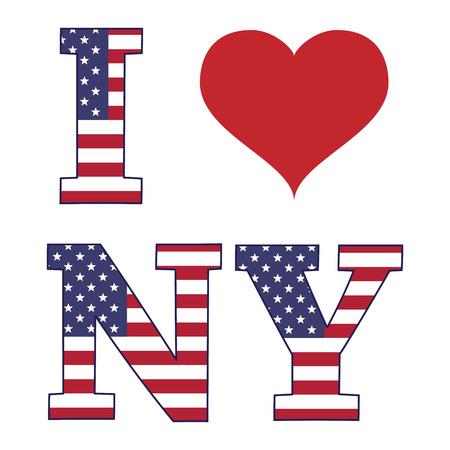 Kocham sztandar Nowego Jorku, ilustracji wektorowych