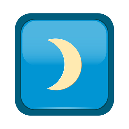 Moon phases, astronomy icon set on blue button