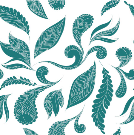 lightness: seamless pattern of feathers. Ethnic doodle indian design background.