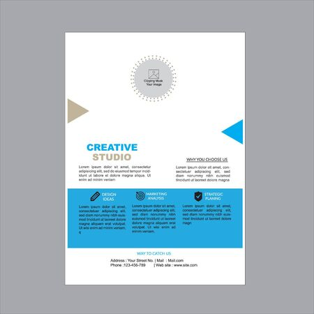 Cool Creative Flyer Stock Illustratie