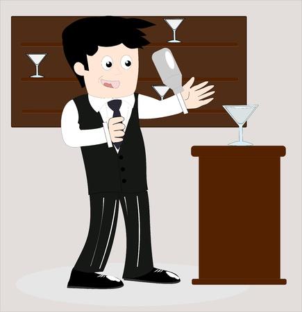 Bartender Stock Vector - 10810559