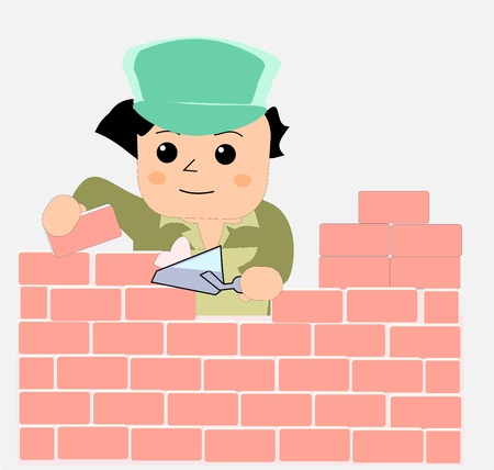 Bricklayer  Stock Vector - 10810567