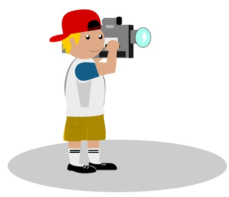 reportage: Cameraman  Illustration