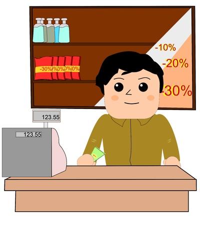Cashier Stock Vector - 10810562