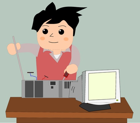 computer repair: Computers repair  Illustration