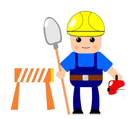 hard worker: Construction worker Illustration