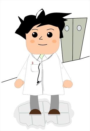 medical drawing: Doctor  Illustration