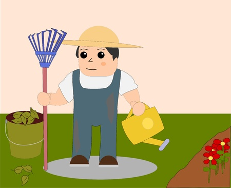 Gardener  Illustration