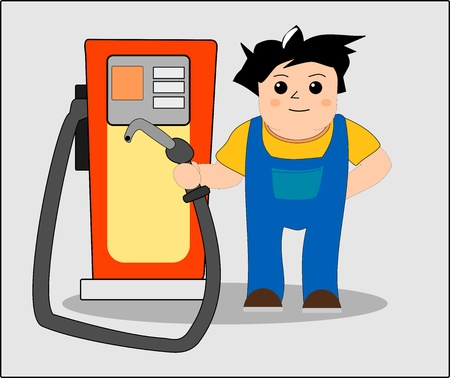 Gas station worker Stock Vector - 10881687