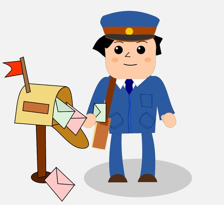 mailman: Postman Illustration