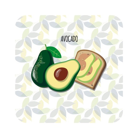 Avocado toast 向量圖像