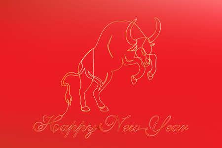 lunar new year 2021. Happy New YEar 2021. Vector 向量圖像