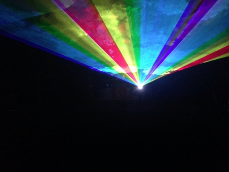 laser lights: Colorful laser lights at a rave party