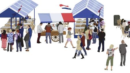 Scheveningen - de meest populaire badplaats van Nederland Stock Illustratie