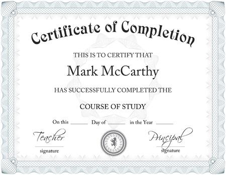 Certificaat Van Completition Template