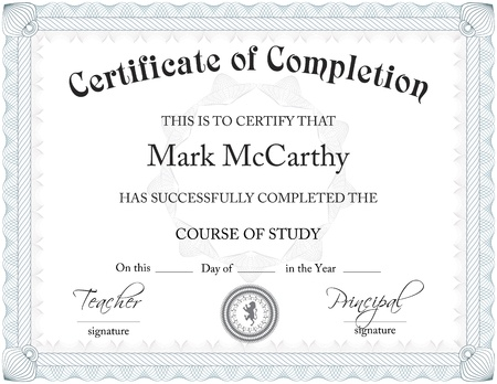certificate template: Certificate Of Completition Template