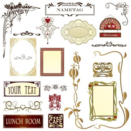 Diseño de elementos de publicidad, papelería & páginas web con el espacio de copia Foto de archivo - 9783303