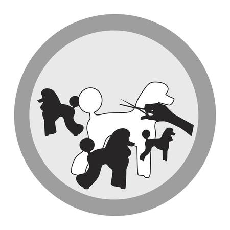 professionele hond grooming salon teken ontwerpen Stock Illustratie