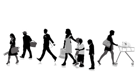 shopper silhouettes, collection for designers Stock Vector - 9888697