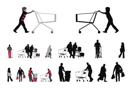 shopper: Shopper-Sammlung, Farbe zwei Versionen Illustration