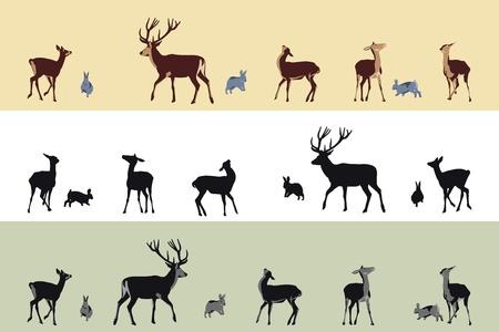 deer and bunnies banners Stock Vector - 9888690