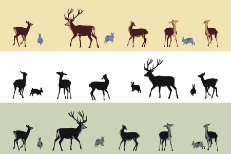 deer and bunnies banners Stock Vector - 9888690