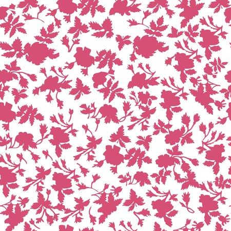 Floral Seamless Pattern In Honeysuckle Color Illustration
