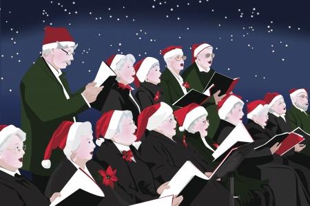 Senior Choir Christmas Concert Stock Vector - 9888744
