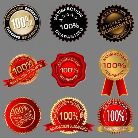 100% Satisfaction Guaranteed Seals  Vector