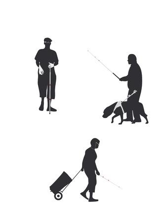 blind man: Vision Impairment