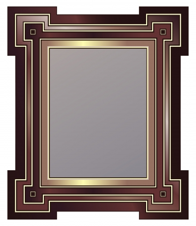 Art Deco Style Picture Frame Stock Vector - 9888671