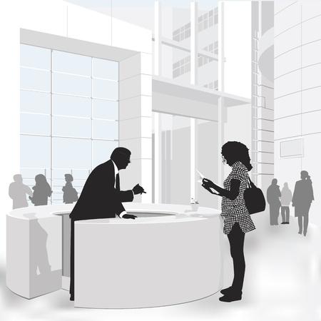 kunden service: Freundlicher Service Illustration