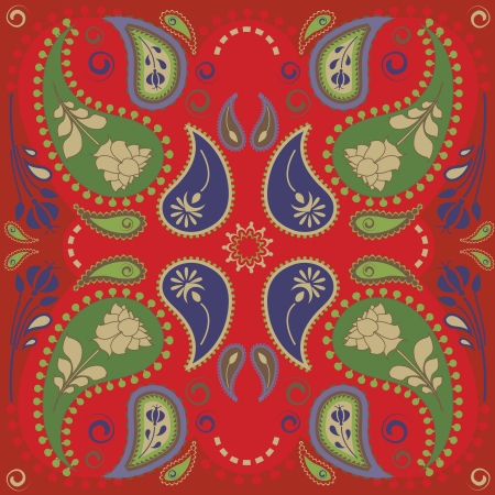 Classic paisley bandana design Vector