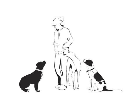 obedience: Clase de perro Vectores