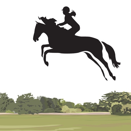 horseback riding: Jumping Horse