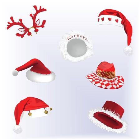 renos de navidad: Colección de sombreros de Navidad